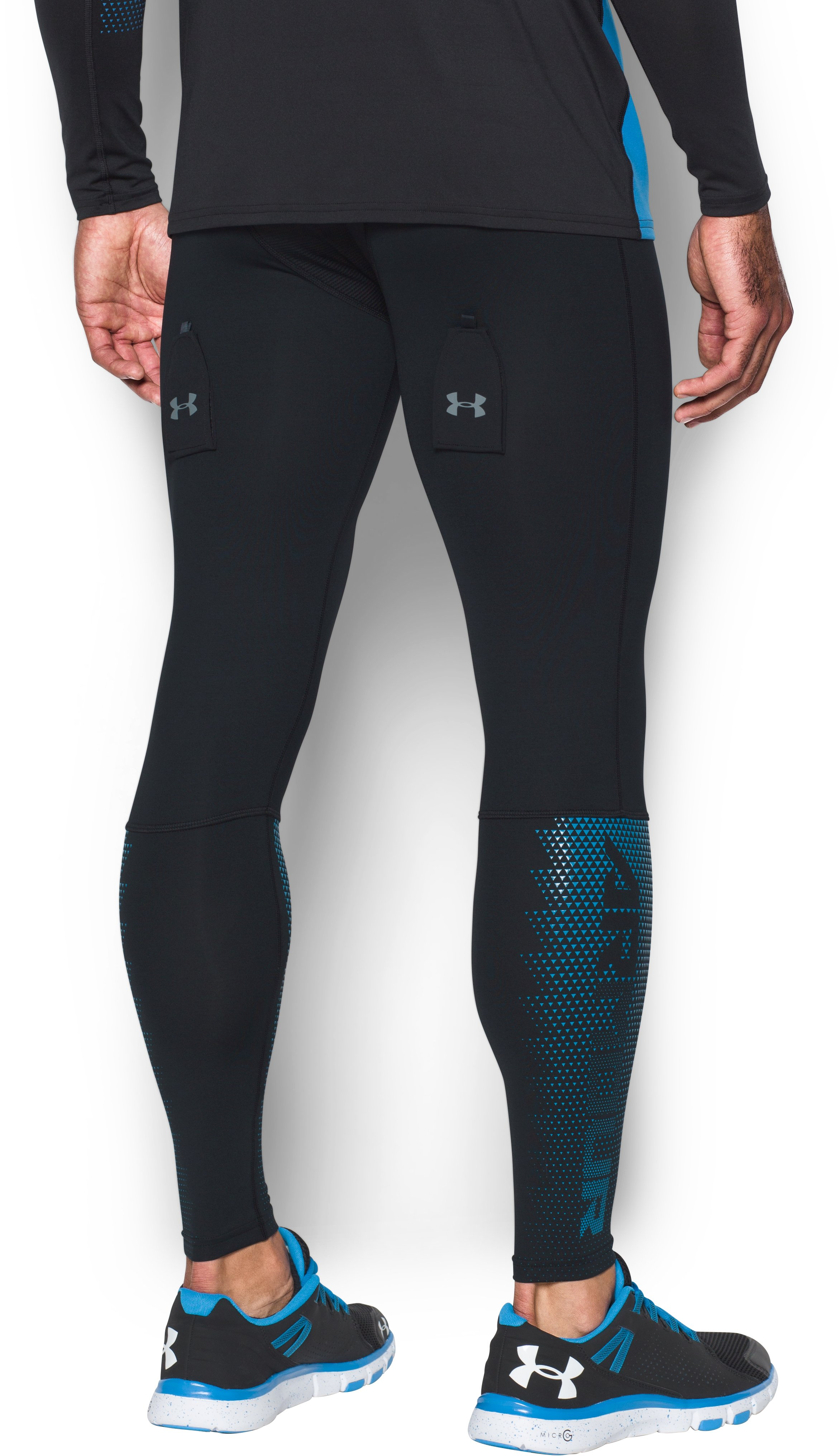Men's UA Purestrike Grippy Fitted Leggings, Black ,