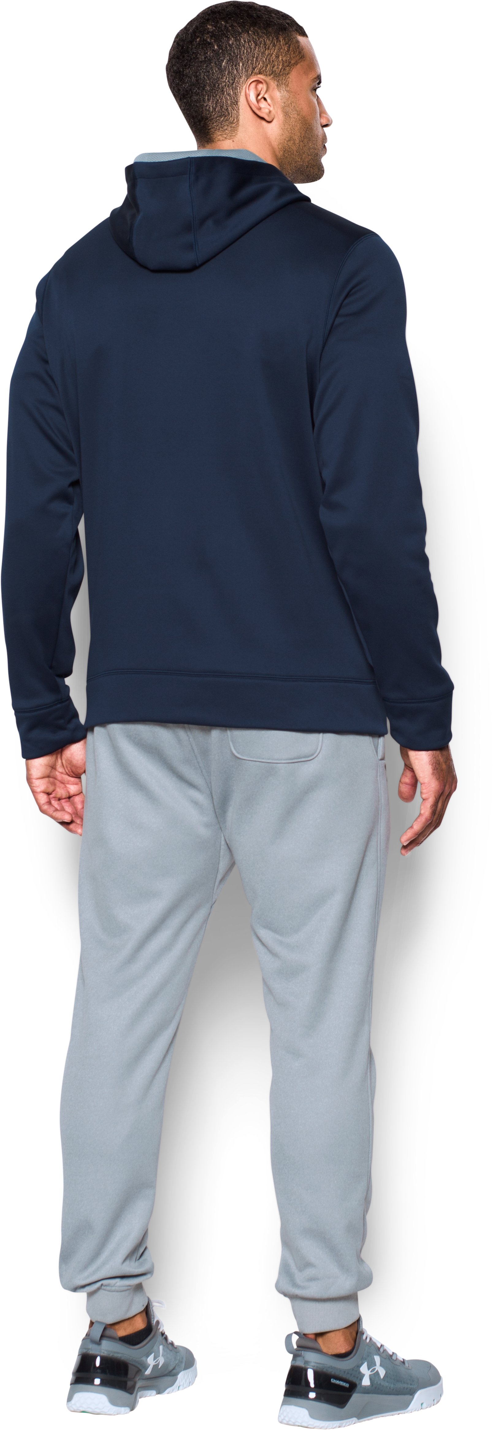 Men's UA Protect Home Ice Hoodie, Midnight Navy, Back