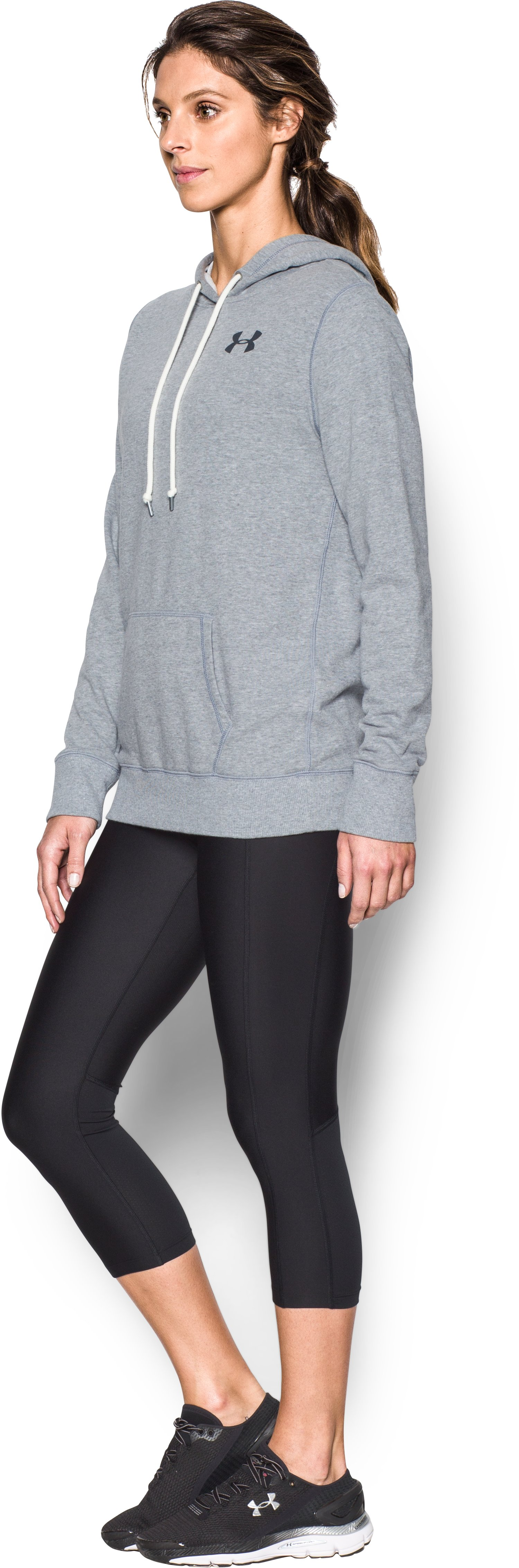 Women's UA Favorite French Terry Popover, True Gray Heather