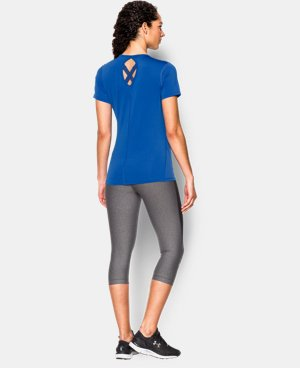 New Arrival  Women's UA HeatGear® CoolSwitch Short Sleeve LIMITED TIME: FREE SHIPPING 1 Color $29.99
