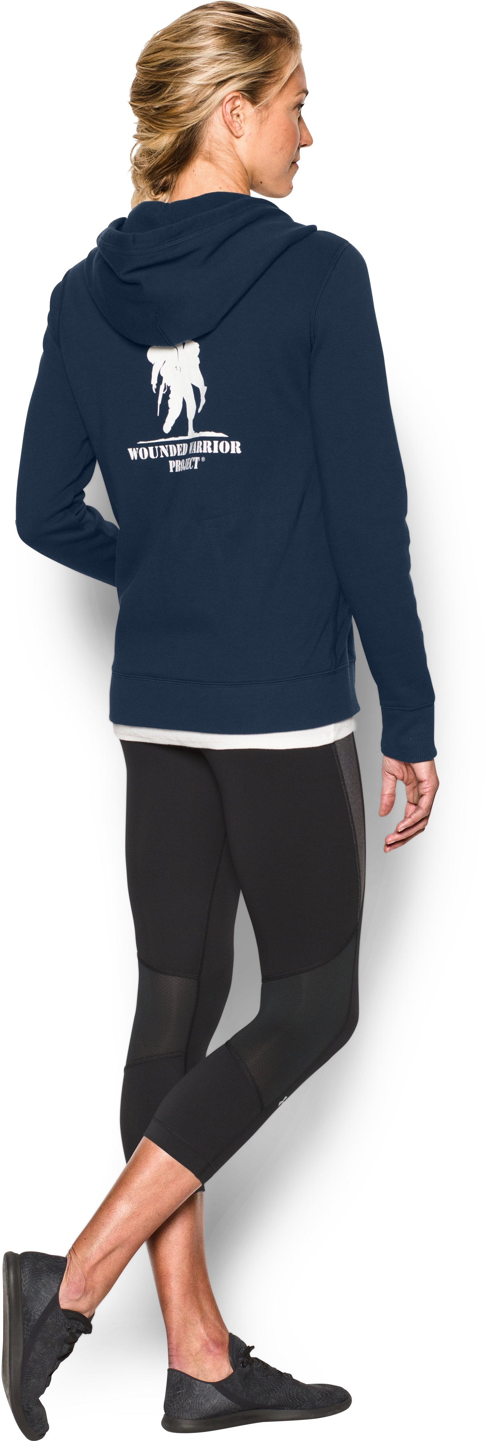 Women's UA Favorite Fleece WWP Full Zip, Academy, Back