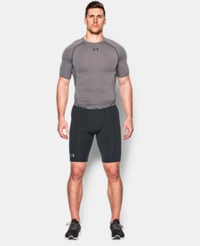 New Arrival Men's UA HeatGear® Armour Graphic Compression Shorts – Long   $28.99
