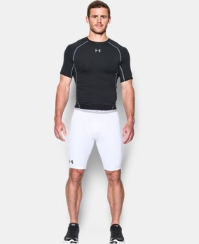 New Arrival Men's UA HeatGear® Armour Graphic Compression Shorts – Long  3 Colors $37.99