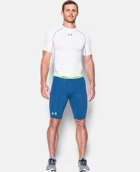 New Arrival Men's UA HeatGear® Armour Graphic Compression Shorts – Long LIMITED TIME: FREE SHIPPING 1 Color $32.99