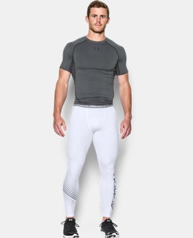New to Outlet Men's UA HeatGear® Armour Graphic Compression Leggings  1 Color $25.49