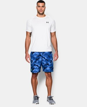 New to Outlet Men's UA HIIT Camo Shorts   1 Color $28.49