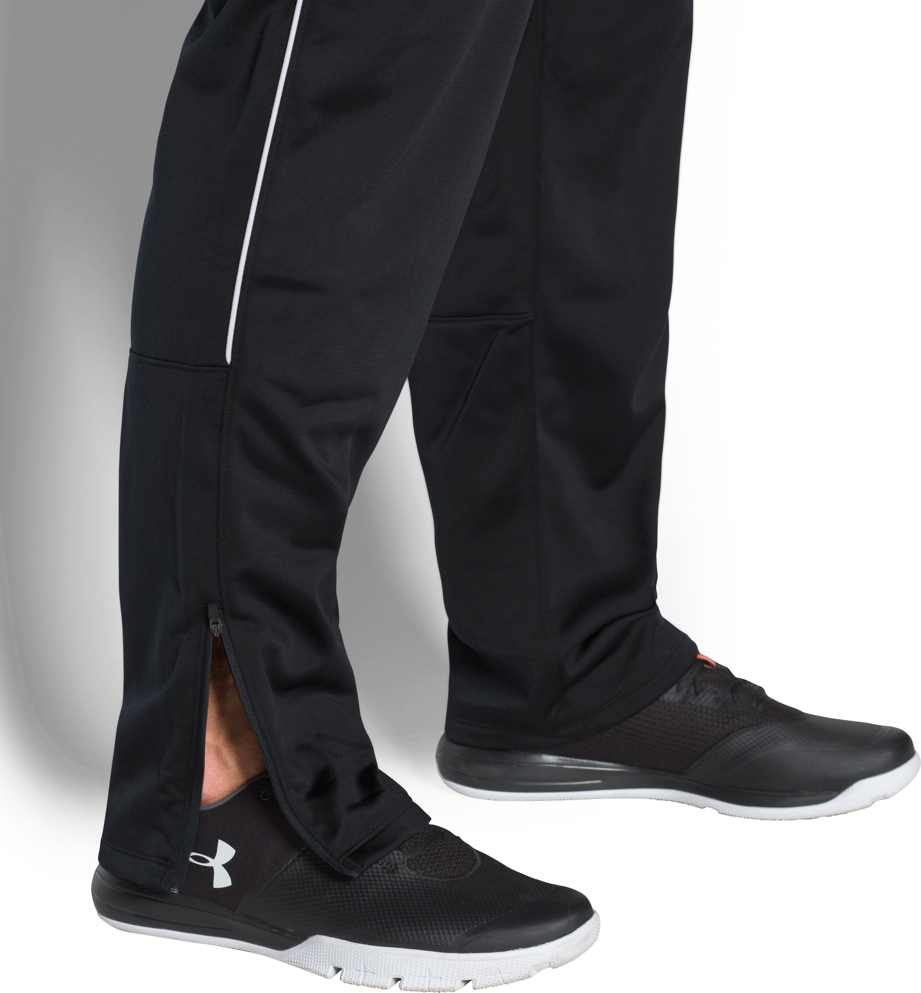 Men's UA Rival Knit Warm-Up Pants, Black