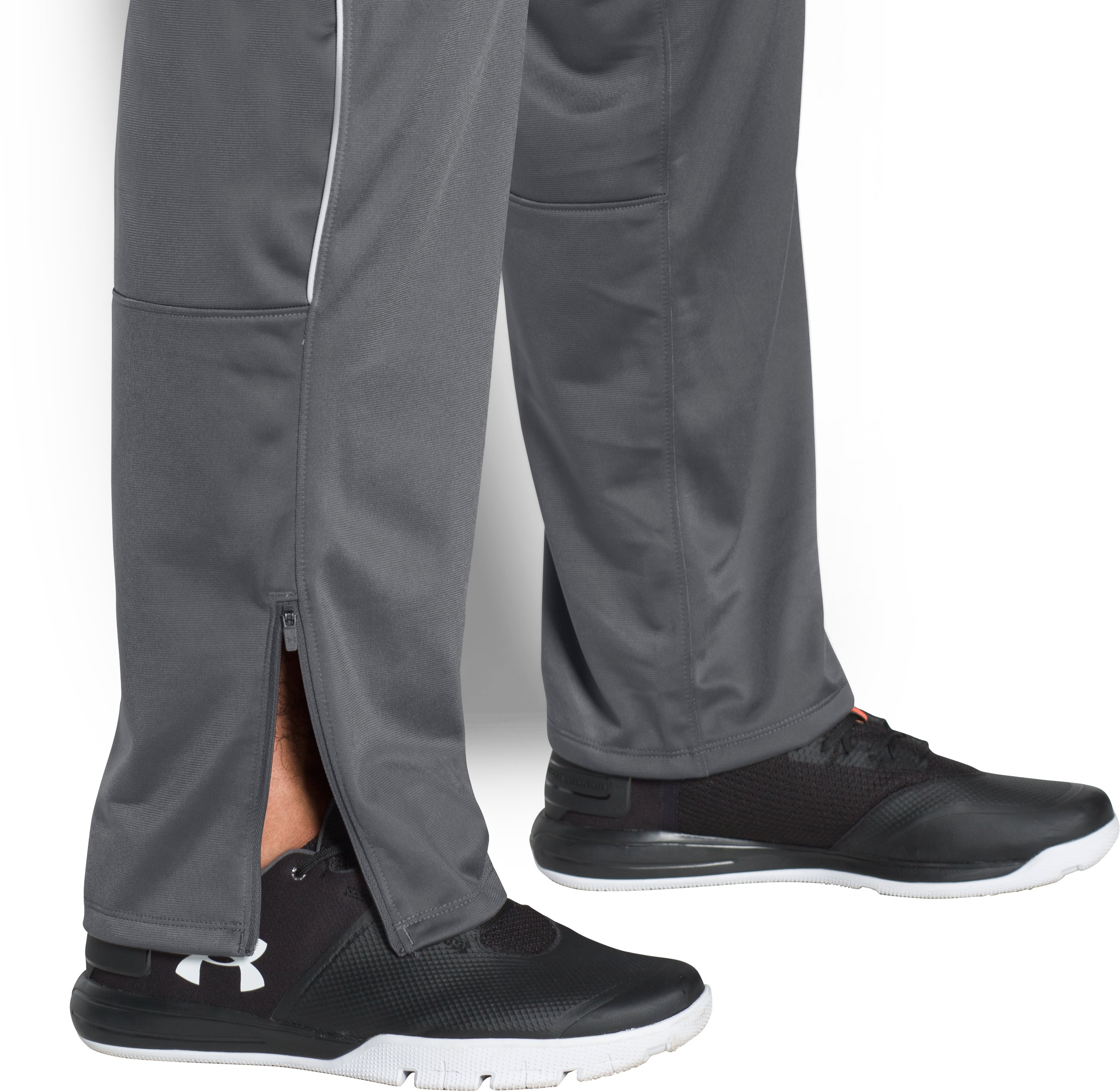 Men's UA Rival Knit Warm-Up Pants, Graphite,