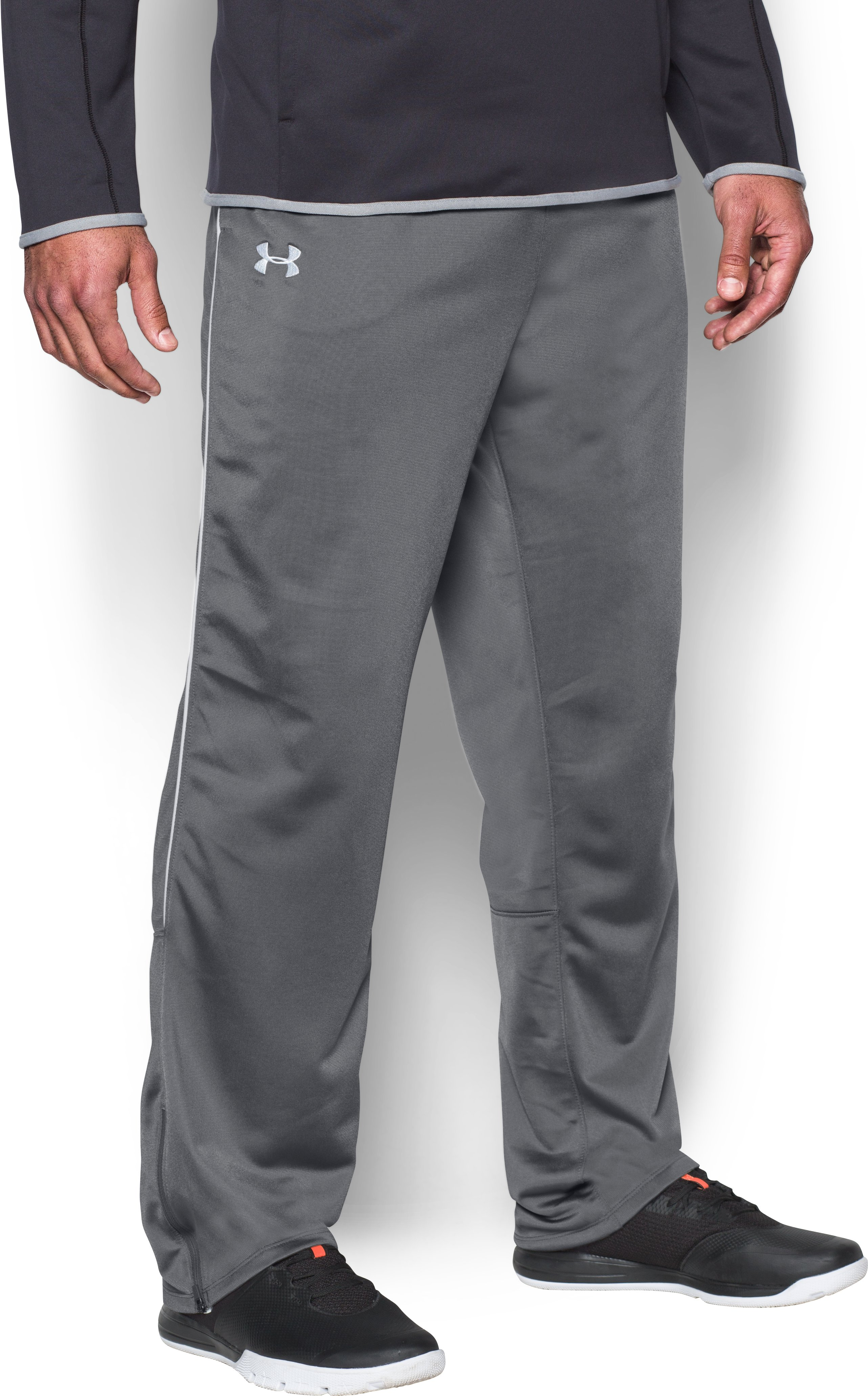 Men's UA Rival Knit Warm-Up Pants, Graphite