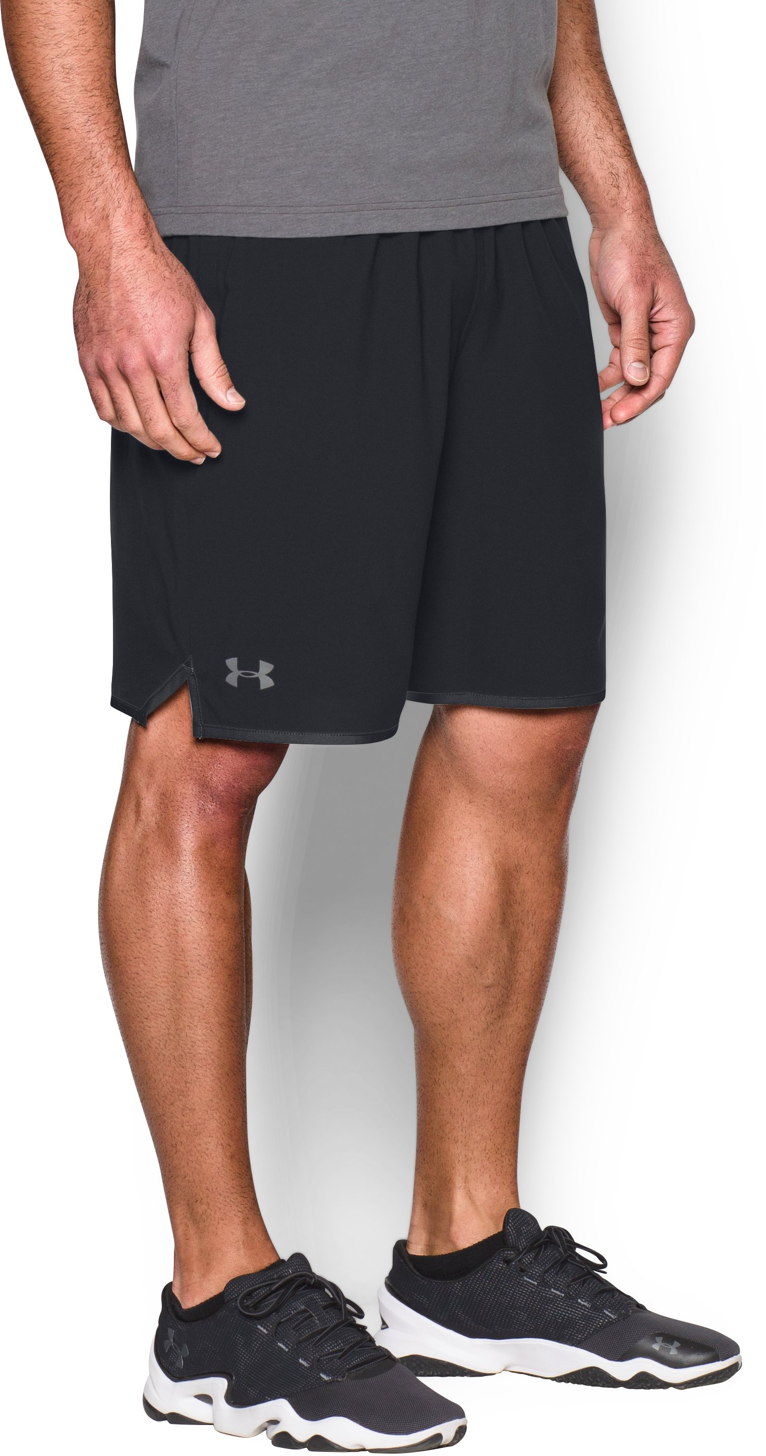 "black woven shorts Men's UA Qualifier 9"" Woven Shorts New Favorite Shorts!!...I'm happy I did....I hope to purchase more!"