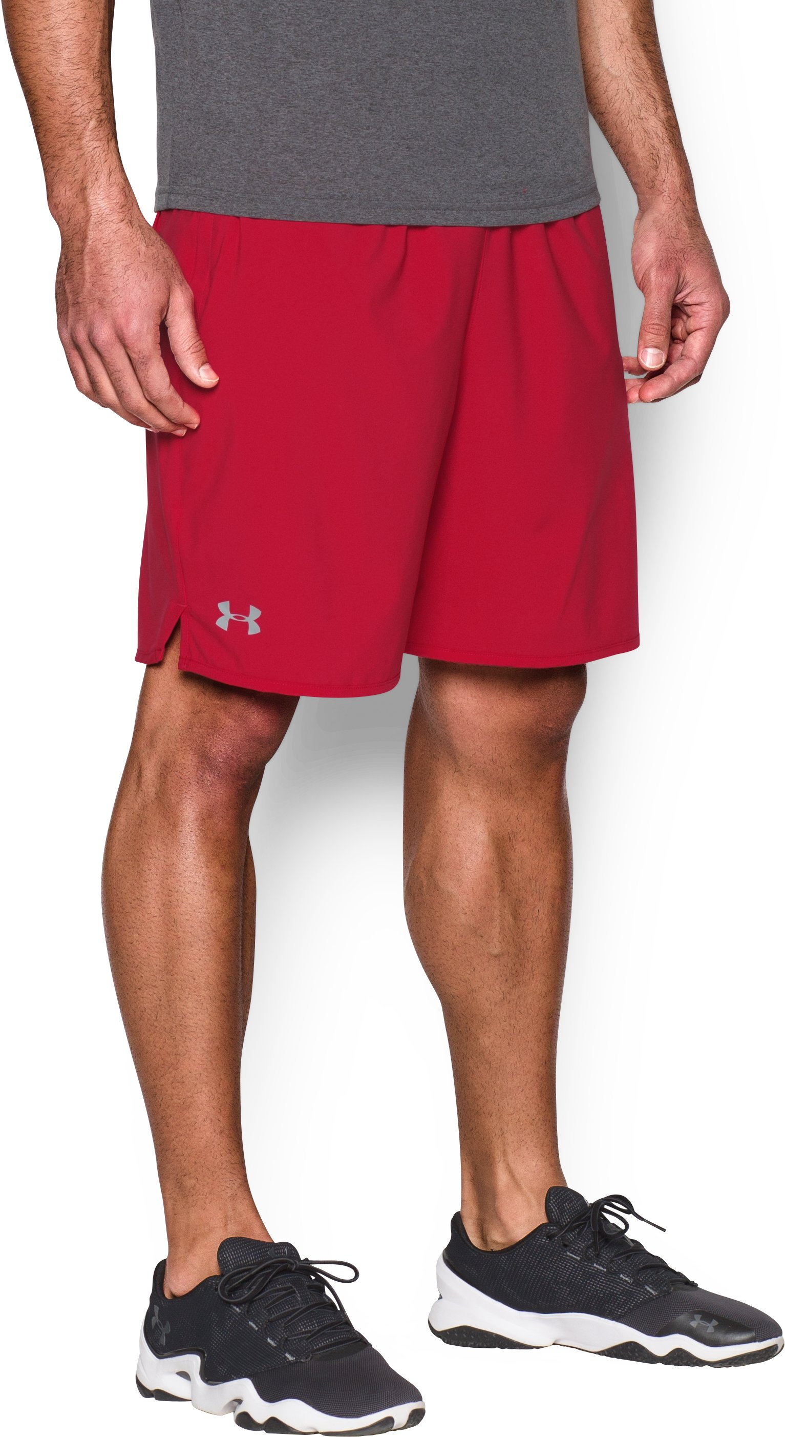 "Men's UA Qualifier 9"" Woven Shorts, Red"