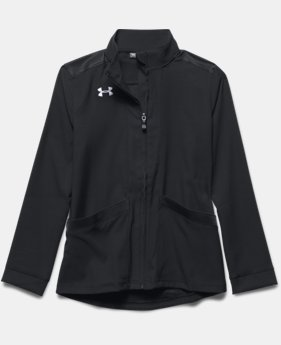 Girls' UA Pregame Woven Warm Up Jacket  1  Color Available $37.99