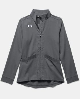 Girls' UA Pregame Woven Warm Up Jacket  3  Colors Available $37.99