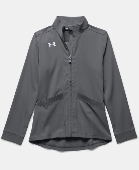 Girls' UA Pregame Woven Warm Up Jacket LIMITED TIME: FREE U.S. SHIPPING 1 Color $49.99