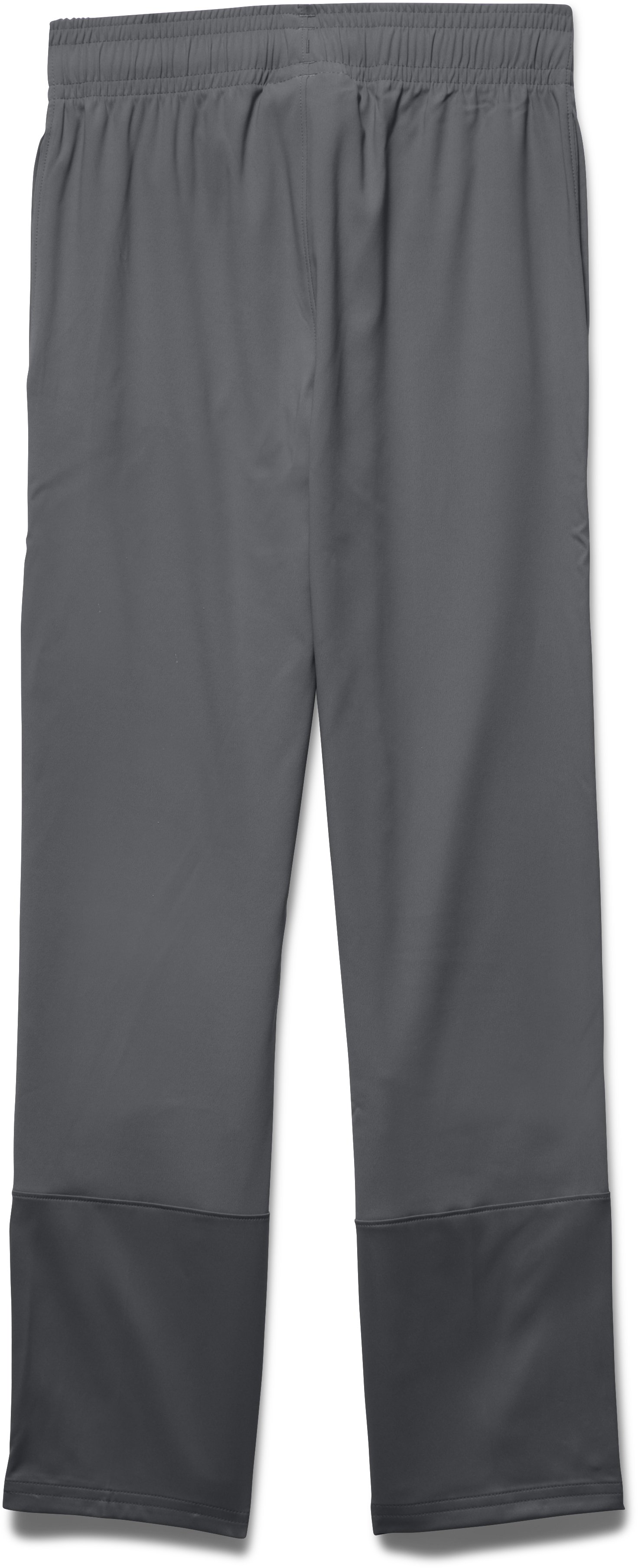 Girls' UA Pregame Woven Warm-Up Pants, Graphite,