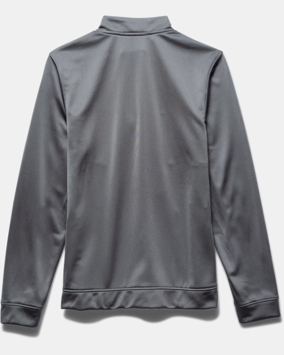 Boys' UA Rival Knit Warm-Up Jacket, Gray, pdpMainDesktop image number 3