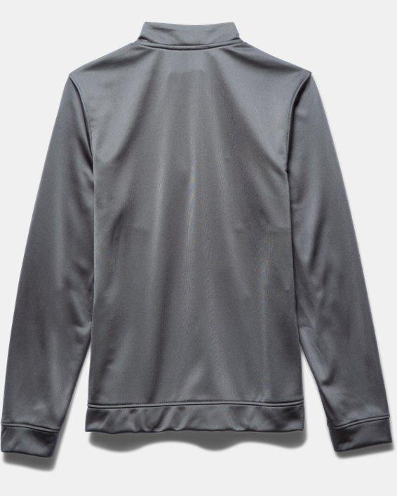 Boys' UA Rival Knit Warm-Up Jacket, Gray, pdpMainDesktop image number 3