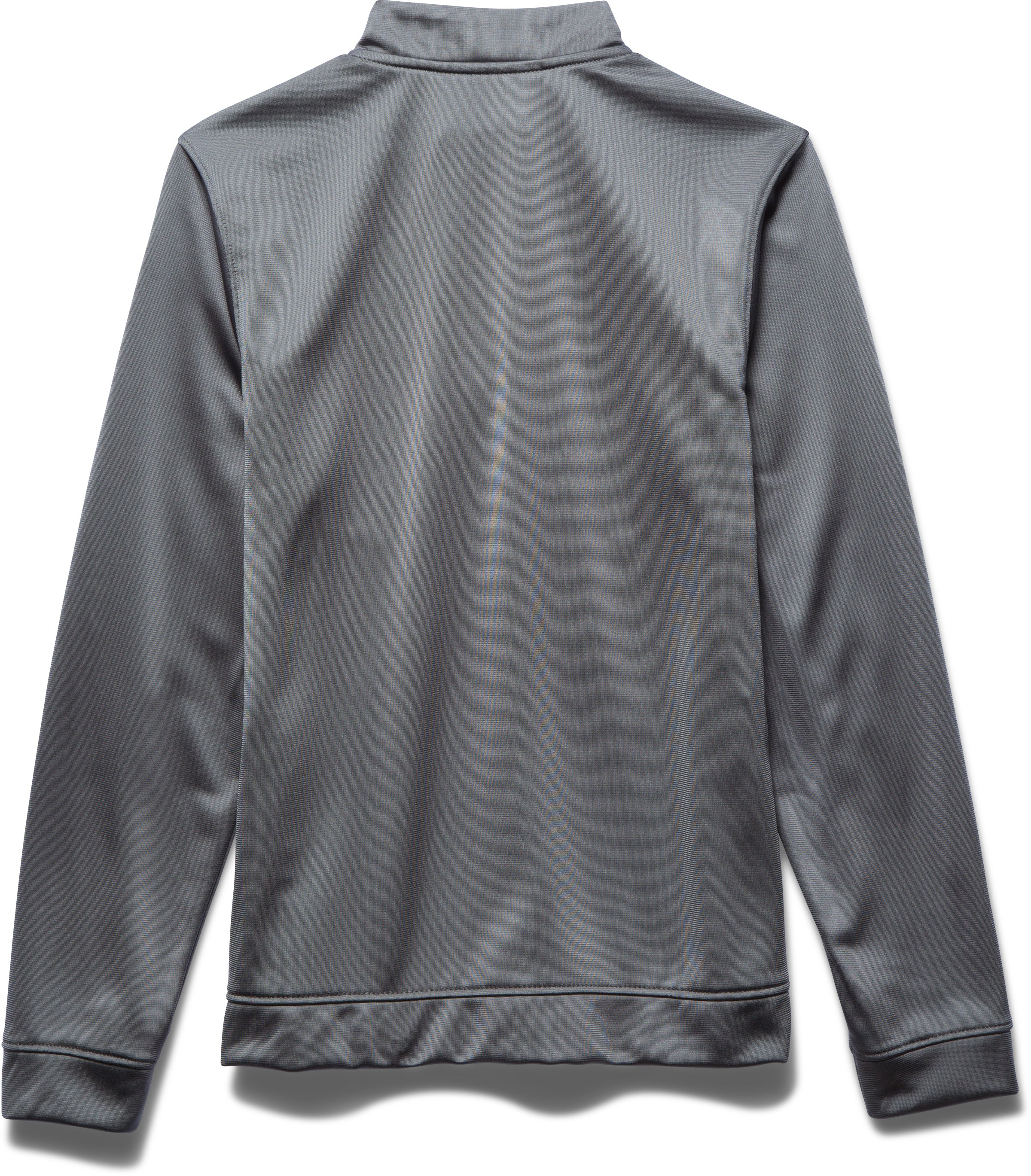Boys' UA Rival Knit Warm Up Jacket, Graphite,