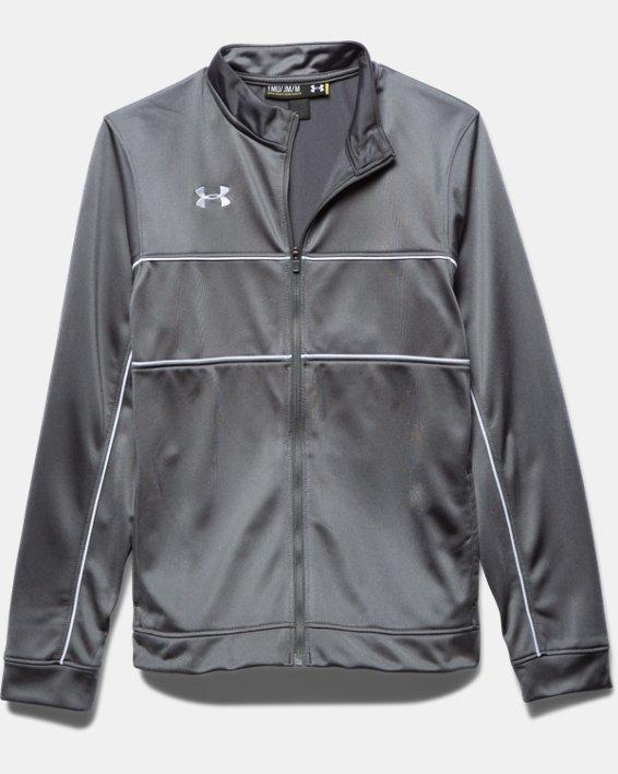 Boys' UA Rival Knit Warm-Up Jacket, Gray, pdpMainDesktop image number 2