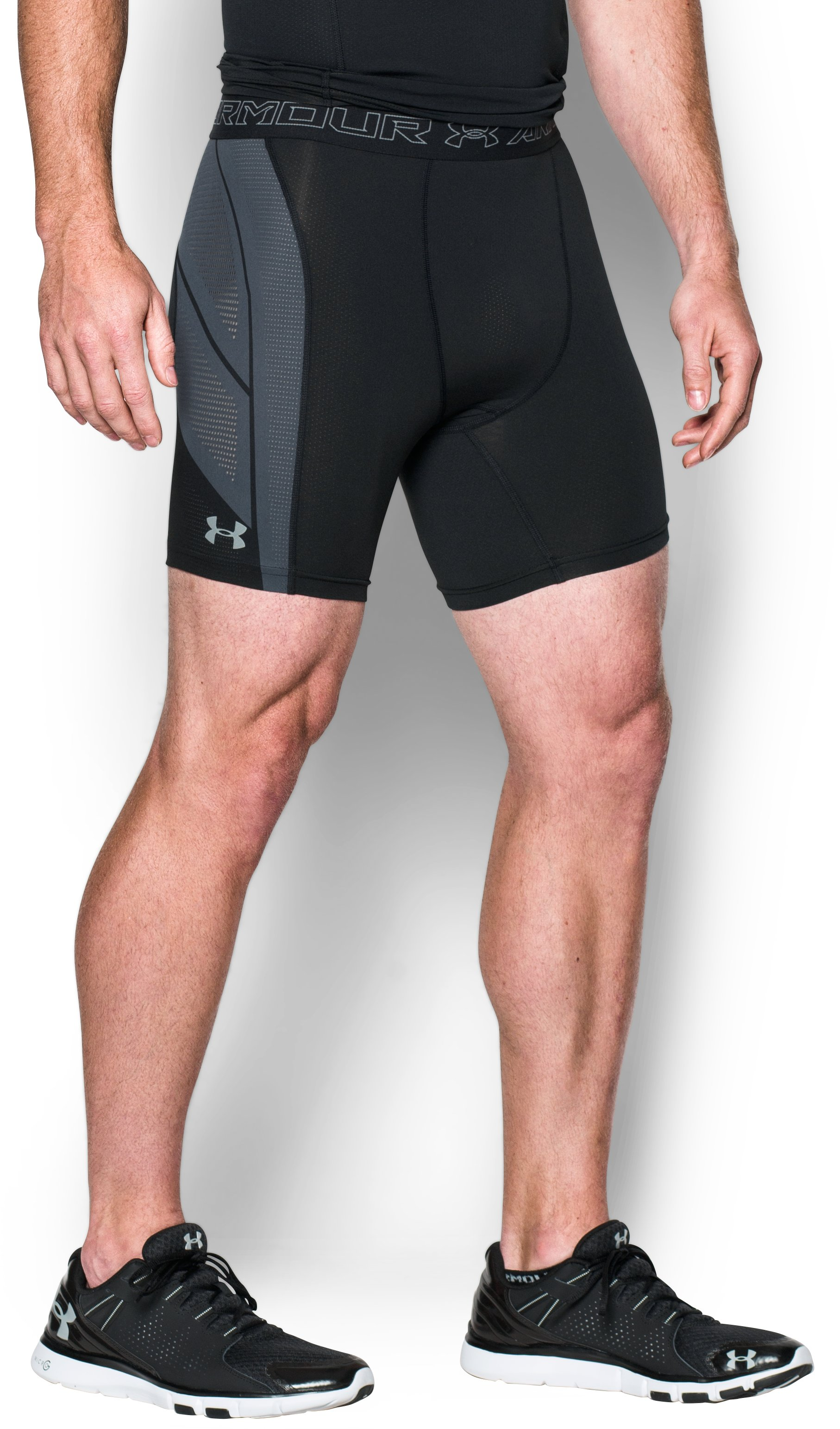 Men's UA HeatGear® Armour CoolSwitch SuperVent Shorts, Black ,