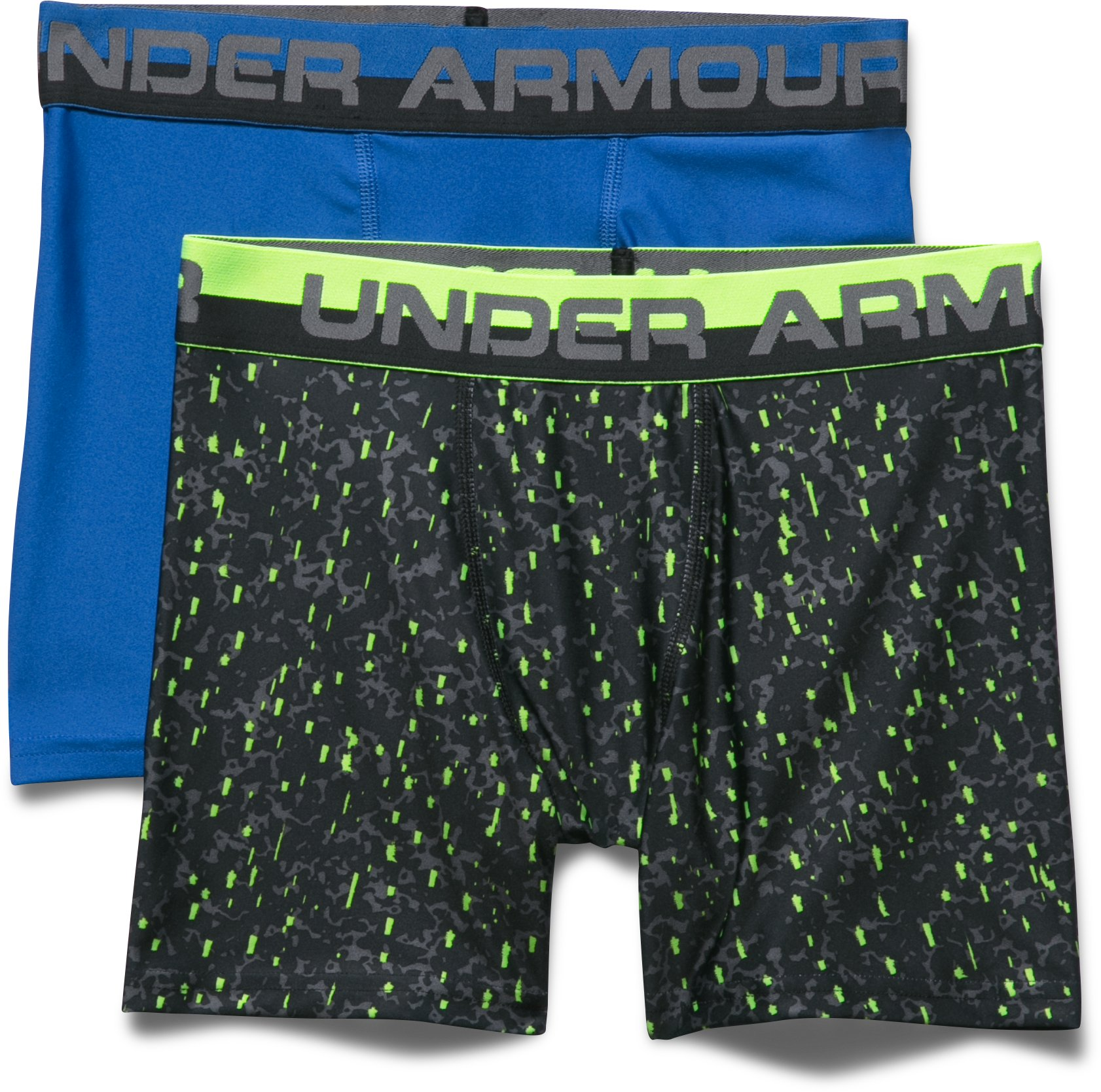 Boys' UA Original Series Boxerjock® – 2-Pack, ULTRA BLUE, Laydown