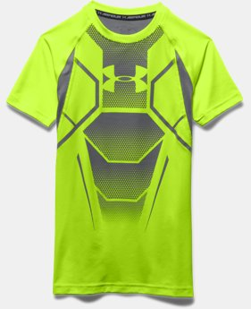 Boy's UA HeatGear® Armour Up Shield Fitted Short Sleeve Shirt