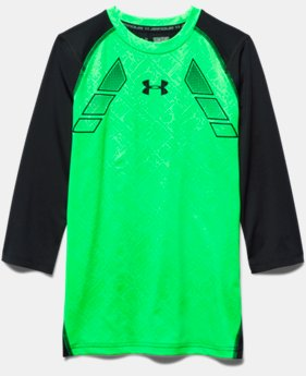Boys' UA Show Me Sweat ¾ Sleeve Shirt LIMITED TIME: FREE SHIPPING 1 Color $39.99