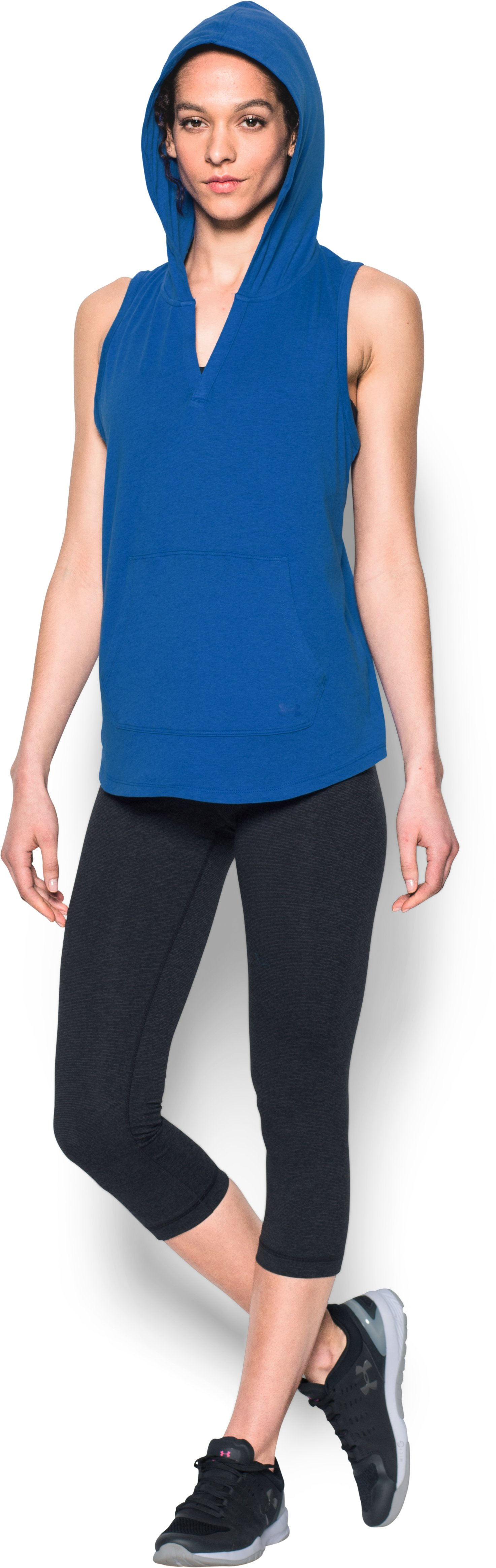 Women's UA Cotton Modal Sleeveless Hoodie, ULTRA BLUE, undefined