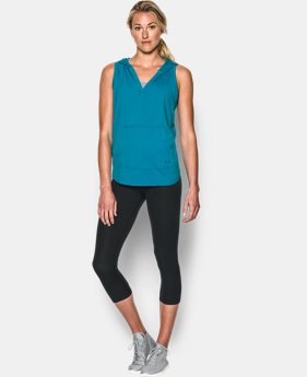 New Arrival  Women's UA Cotton Modal Sleeveless Hoodie LIMITED TIME: FREE SHIPPING 1 Color $33.99