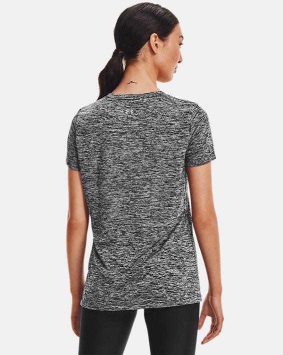 T-shirt UA Tech™ Twist pour femme, Black, pdpMainDesktop image number 2