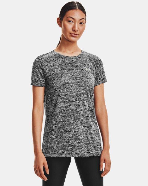 T-shirt UA Tech™ Twist pour femme, Black, pdpMainDesktop image number 1