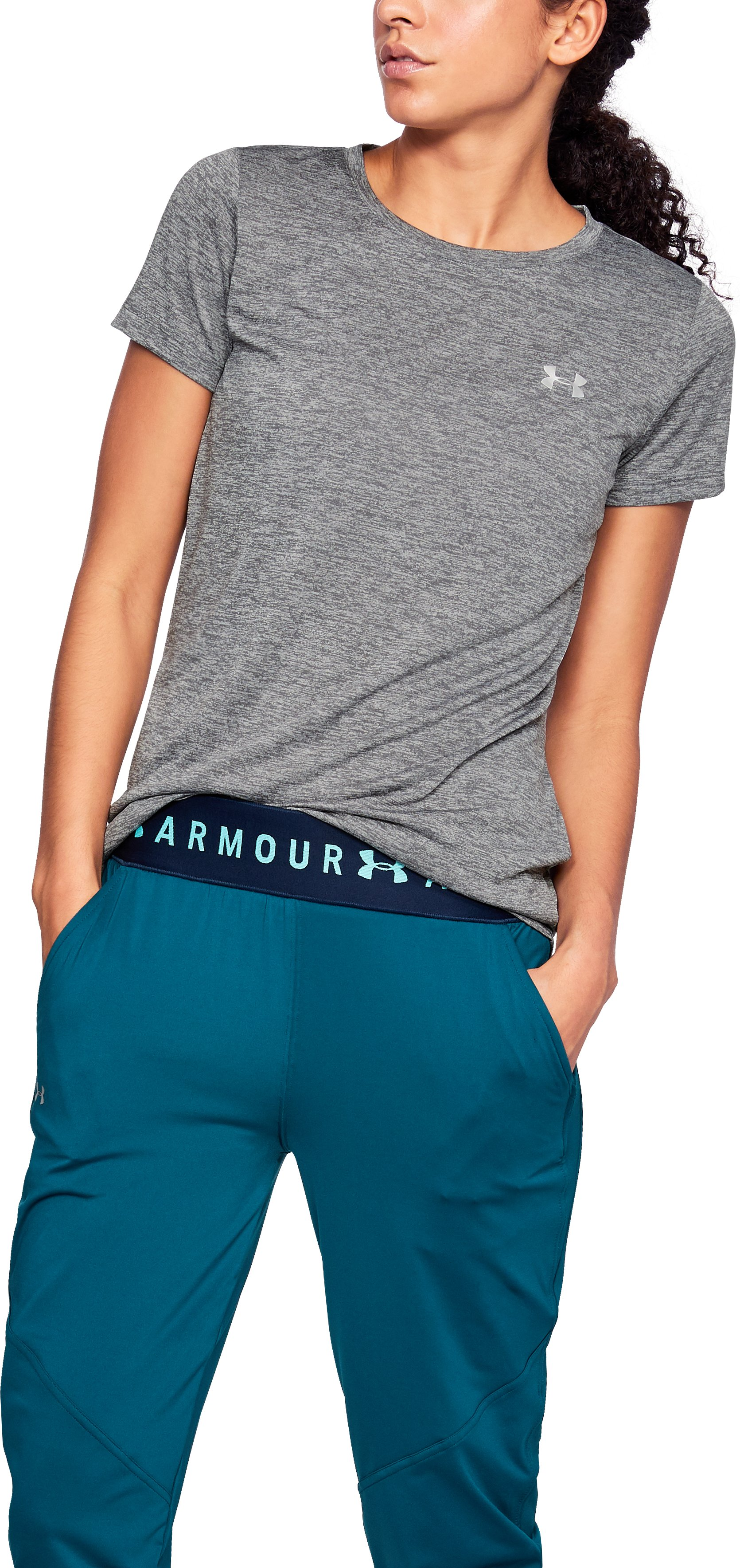 Women's UA Tech™ Twist T-Shirt, Graphite