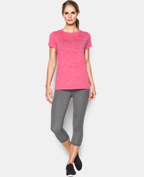 New Arrival  Women's UA Tech™ Twist T-Shirt LIMITED TIME: FREE SHIPPING 6 Colors $22.99 to $29.99