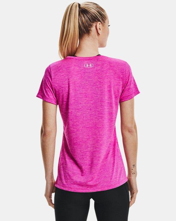 Women's UA Tech™ Twist T-Shirt, Pink, pdpMainDesktop image number 2