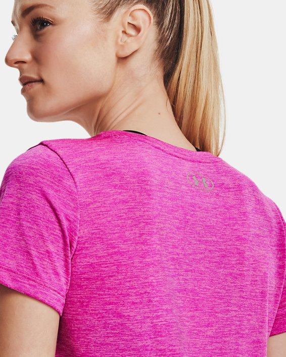 Women's UA Tech™ Twist T-Shirt, Pink, pdpMainDesktop image number 5