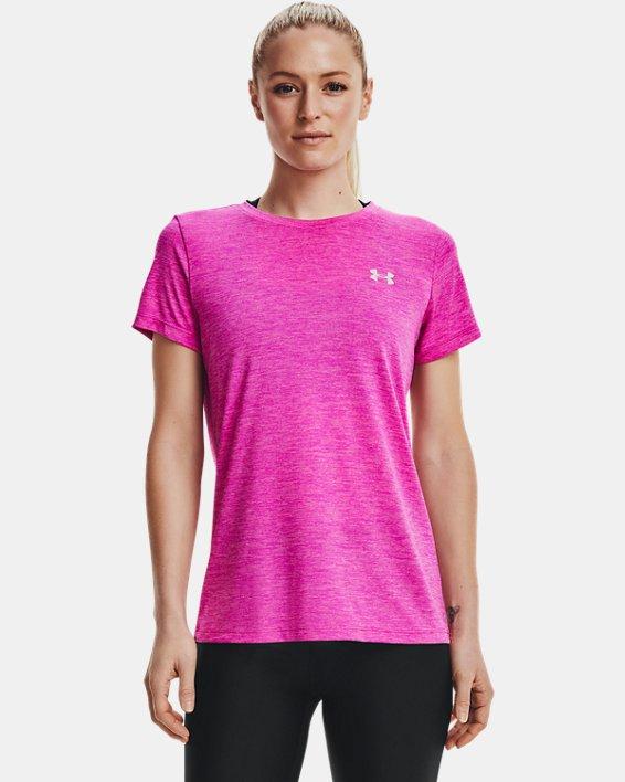 Women's UA Tech™ Twist T-Shirt, Pink, pdpMainDesktop image number 1