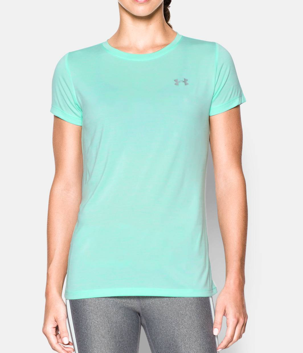 Women 39 s ua tech twist t shirt under armour us for Under armour i will shirt