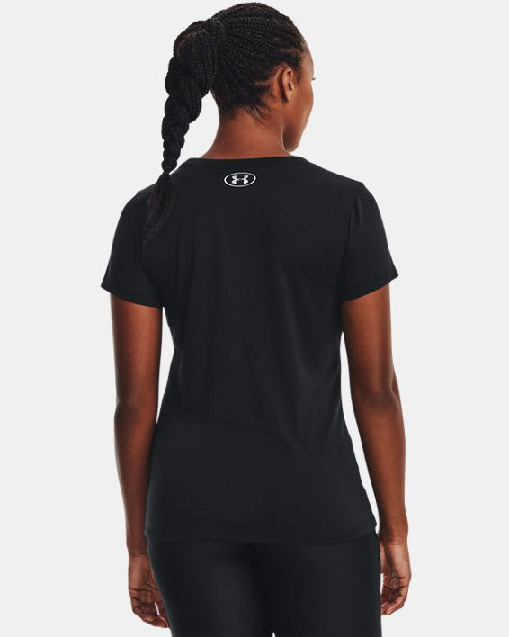 Women's UA Tech™ T-Shirt, Black, pdpMainDesktop image number 4