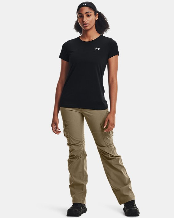 Women's UA Tech™ T-Shirt, Black, pdpMainDesktop image number 3