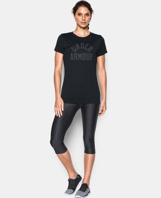 Women's UA Tech™ Word Mark T-Shirt  LIMITED TIME OFFER + FREE U.S. SHIPPING 3 Colors $20.99