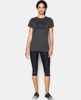 Women's UA Tech™ Word Mark T-Shirt  LIMITED TIME: FREE U.S. SHIPPING 1 Color $20.99 to $27.99