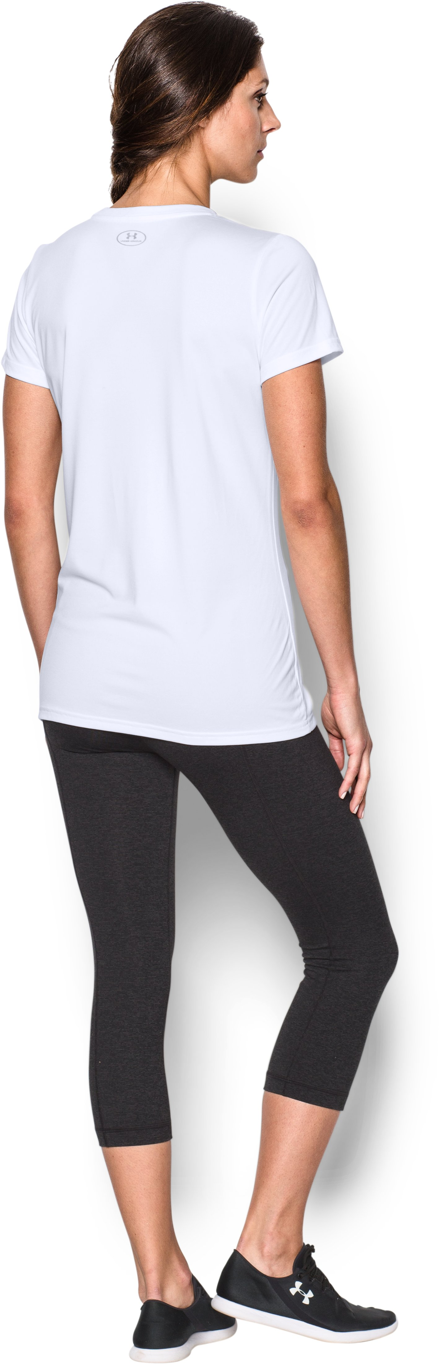Women's UA Tech™ Word Mark T-Shirt, White, Back