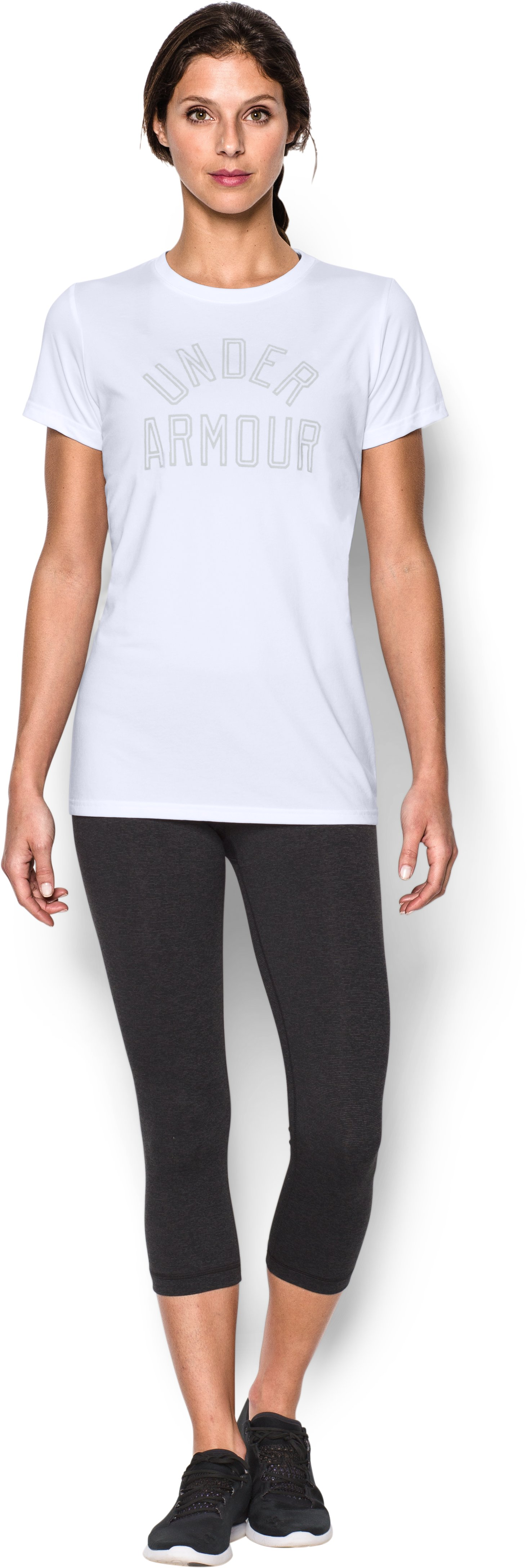 Women's UA Tech™ Word Mark T-Shirt, White, Front