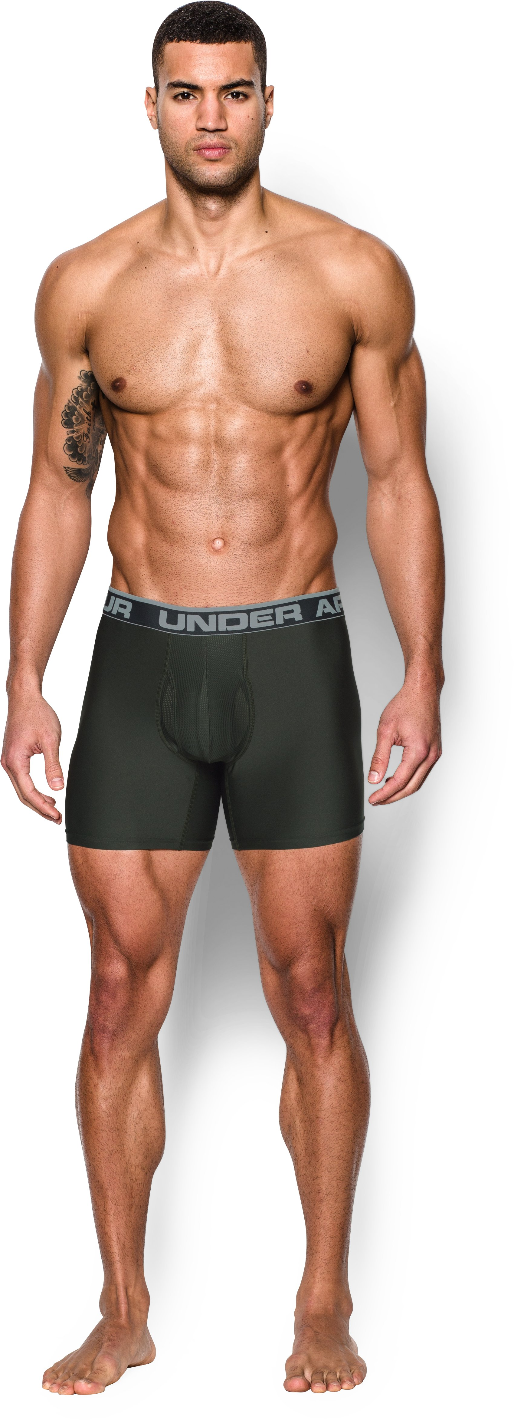 "Men's UA Original Series 6"" Boxerjock®, Artillery Green"