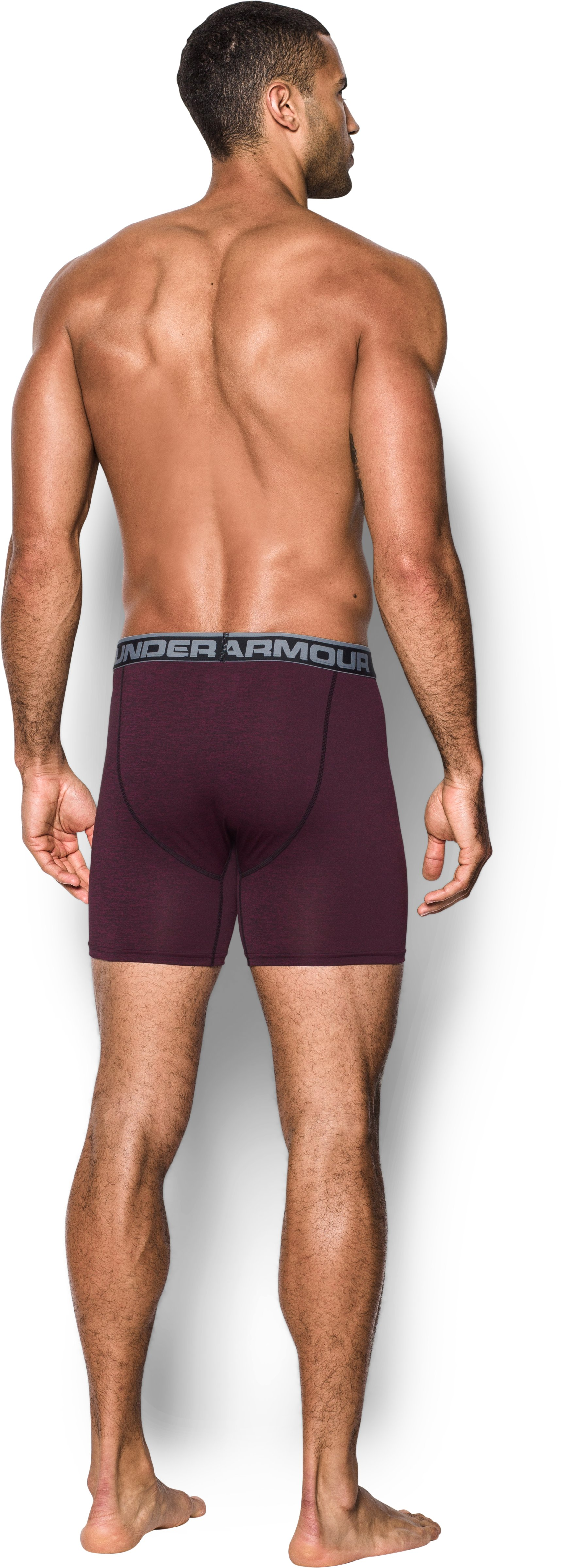 Men's UA Original Series Twist Boxerjock®, Maroon, Back