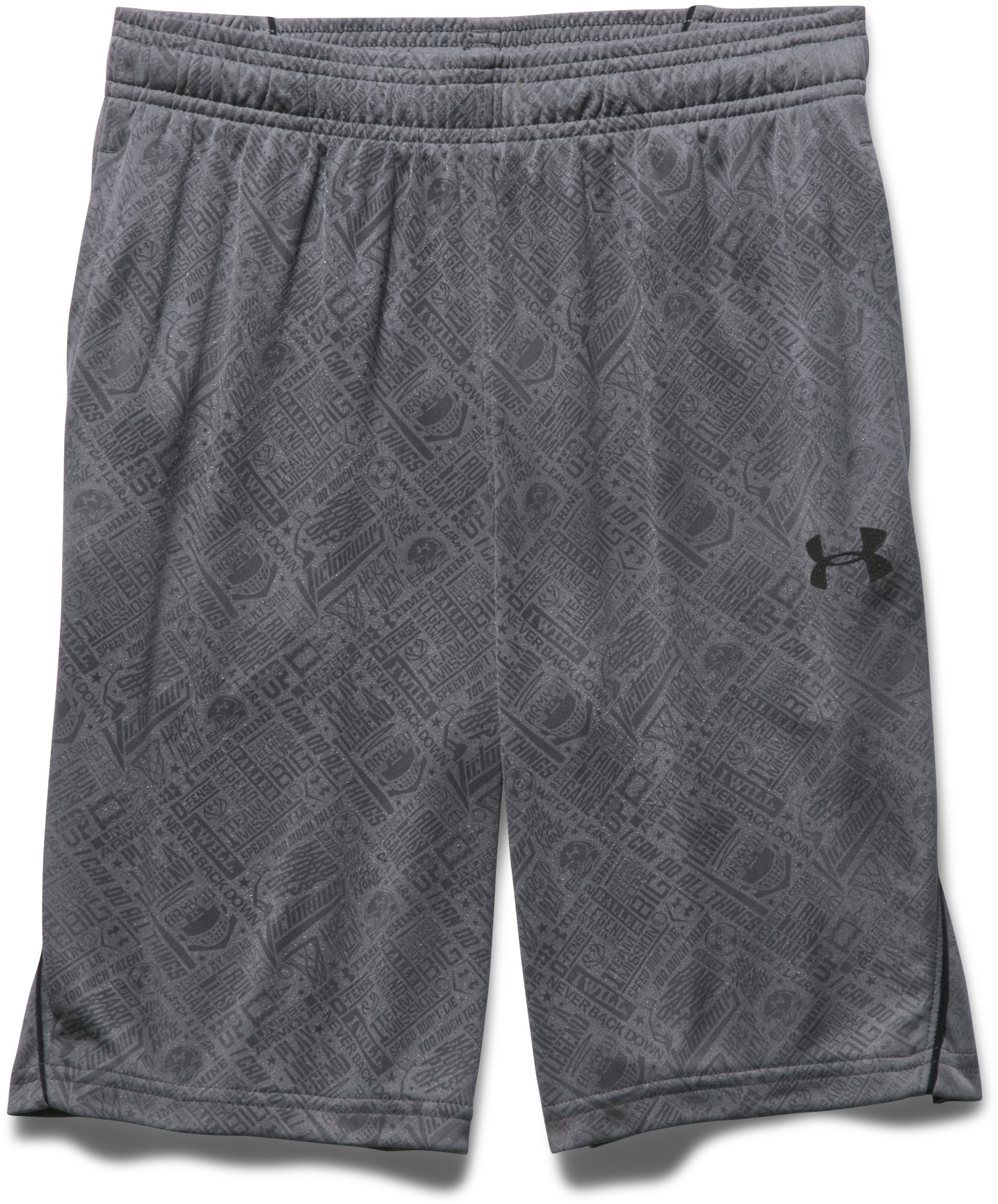 Boys' UA Never Back Down Shorts, Graphite,