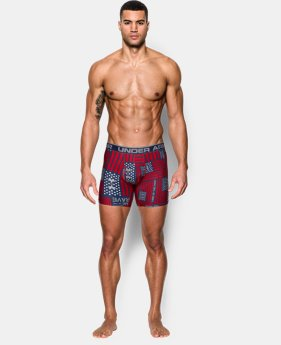 "New Arrival Men's UA Original Series Printed 6"" Boxerjock®  4 Colors $25"