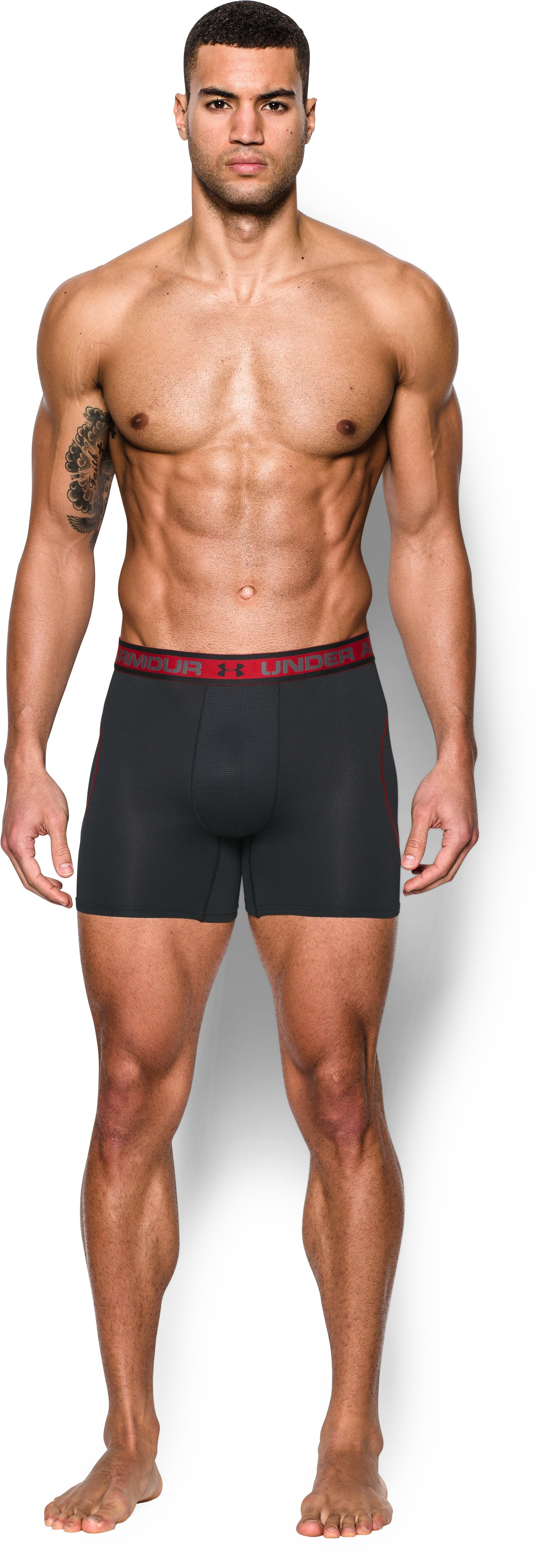 "Men's UA Iso-Chill Mesh 6"" Boxerjock®, Black"
