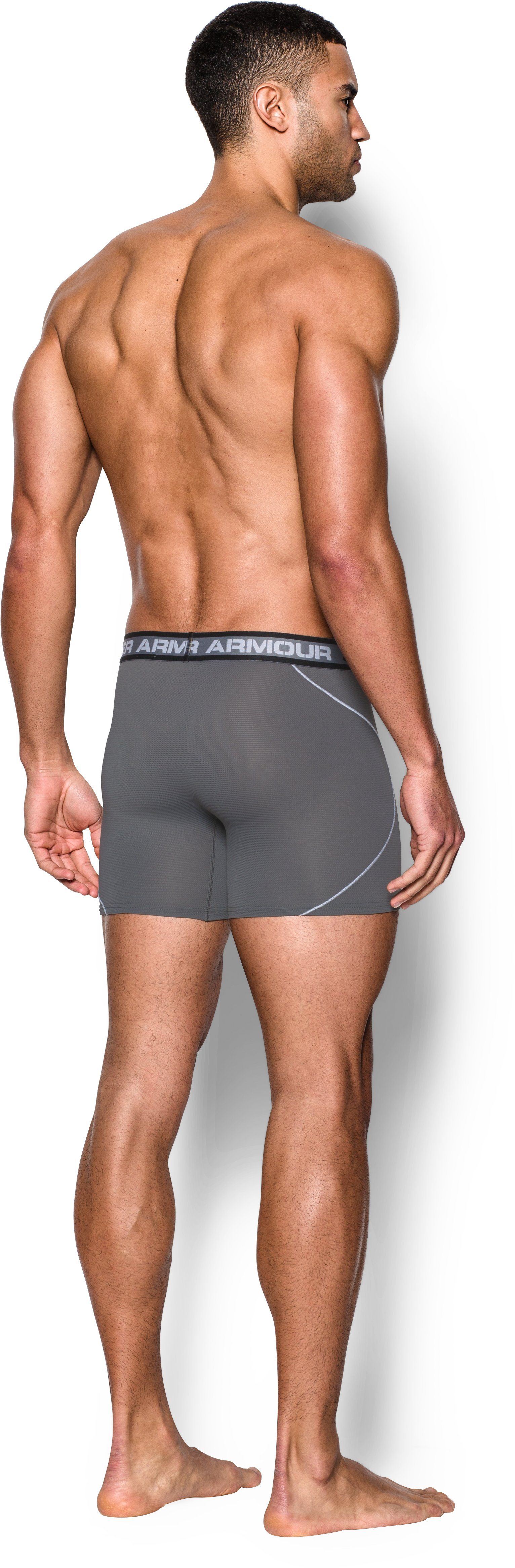 "Men's UA Iso-Chill Mesh 6"" Boxerjock®, Graphite, Back"