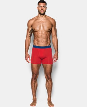 "Men's Charged Cotton® Stretch 6"" Boxerjock® – 3-Pack  2  Colors Available $40"